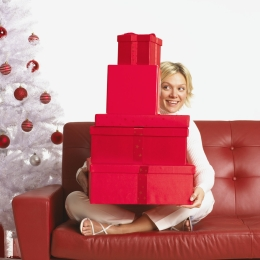 Gift lift is the boost you get from presents.