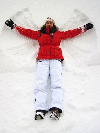 snow angel girl